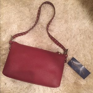 Hand stitched Charter Club red purse